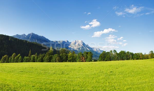 Stok fotoğraf: Dağlar · panoramik · görmek · Avusturya · gökyüzü · manzara