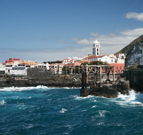 Tenerife côte vieux village océan île Photo stock © MichaelVorobiev