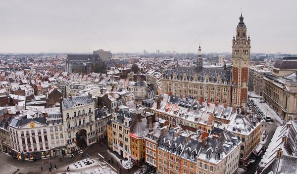 центра панорамный мнение зима Франция здании Сток-фото © MichaelVorobiev