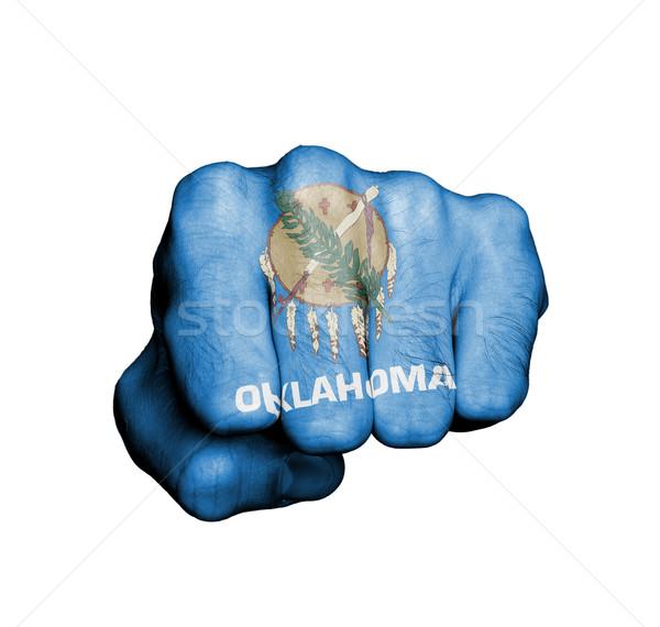 États-Unis poing pavillon Oklahoma gymnase bleu Photo stock © michaklootwijk