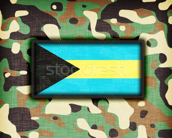 равномерный Багамские острова флаг текстуры аннотация Сток-фото © michaklootwijk