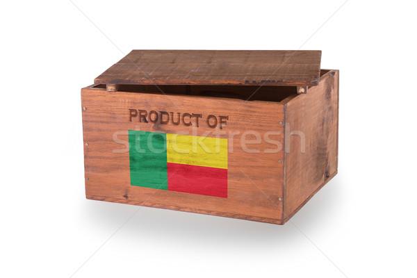 Skrzynia odizolowany biały produktu Benin Zdjęcia stock © michaklootwijk