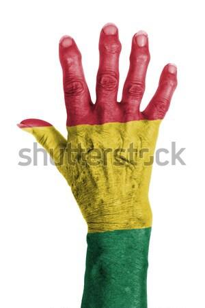 Hand symbool gezegde vijf hallo stoppen Stockfoto © michaklootwijk