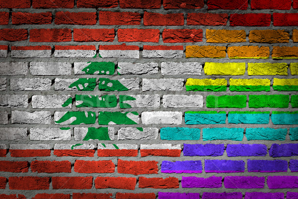 Dark brick wall - LGBT rights - Lebanon Stock photo © michaklootwijk