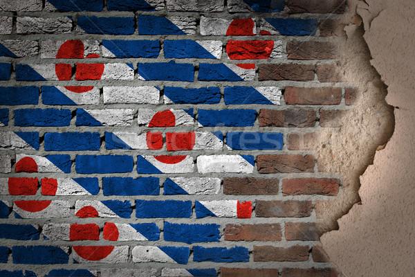 темно кирпичная стена штукатурка текстуры флаг окрашенный Сток-фото © michaklootwijk