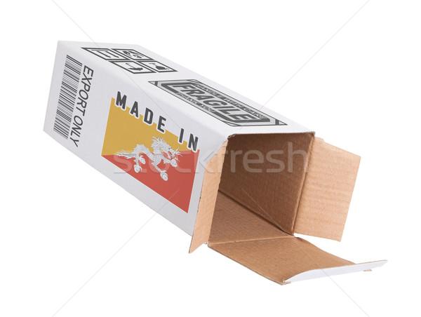 エクスポート 製品 ブータン 紙 ボックス ストックフォト © michaklootwijk