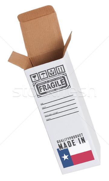 Exportar produto Texas papel caixa Foto stock © michaklootwijk