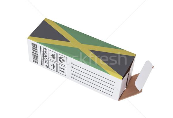 Exportar producto Jamaica papel cuadro Foto stock © michaklootwijk