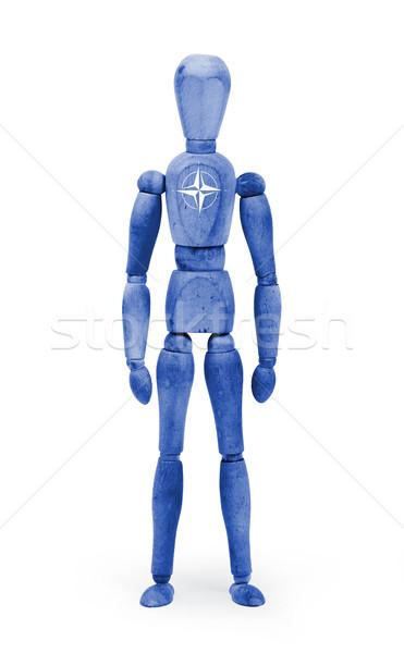 Wood figure mannequin with flag bodypaint - NATO Stock photo © michaklootwijk