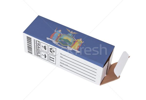 Exportar produto Nova Iorque papel caixa Foto stock © michaklootwijk
