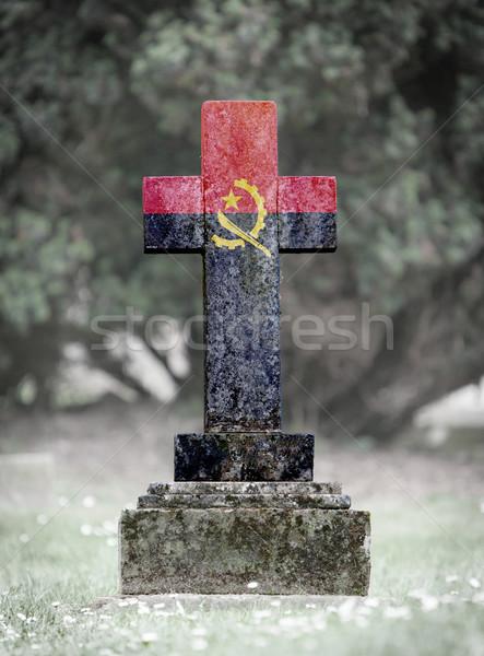 кладбище Ангола старые выветрившийся флаг Сток-фото © michaklootwijk