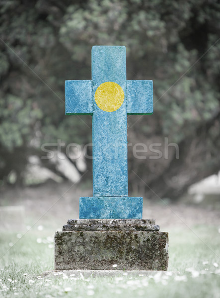 Gravestone in the cemetery - Palau Stock photo © michaklootwijk