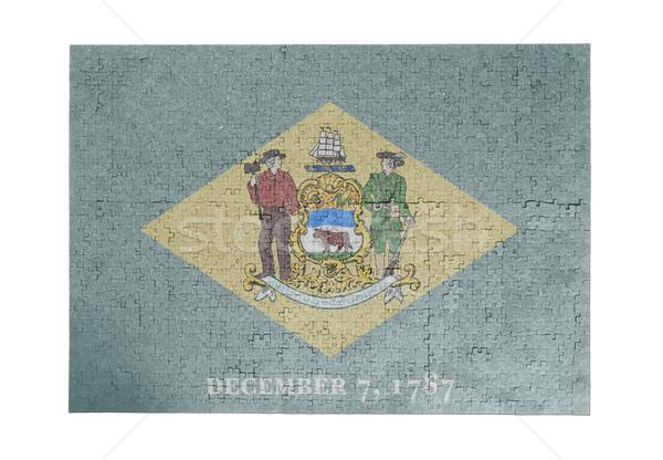 Grande rompecabezas 1000 piezas Delaware bandera Foto stock © michaklootwijk