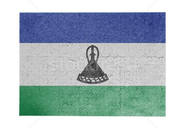 Сток-фото: большой · 1000 · частей · Лесото · флаг