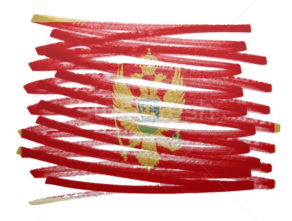 флаг иллюстрация Черногория пер бизнеса краской Сток-фото © michaklootwijk