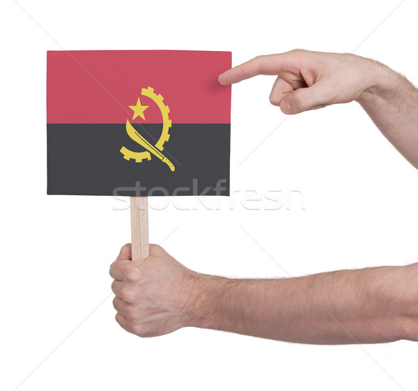 стороны небольшой карт флаг Ангола Сток-фото © michaklootwijk