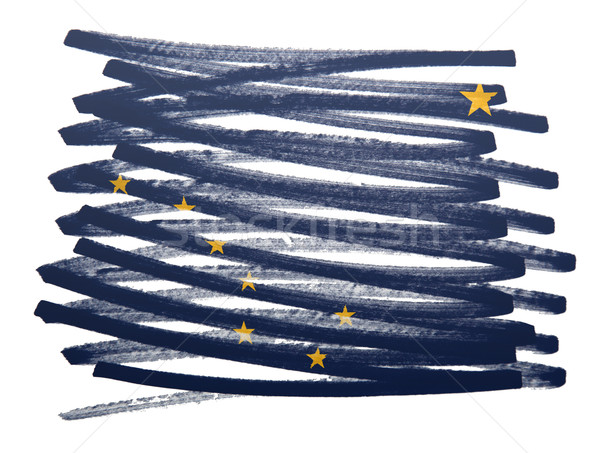 Vlag illustratie Alaska pen business verf Stockfoto © michaklootwijk