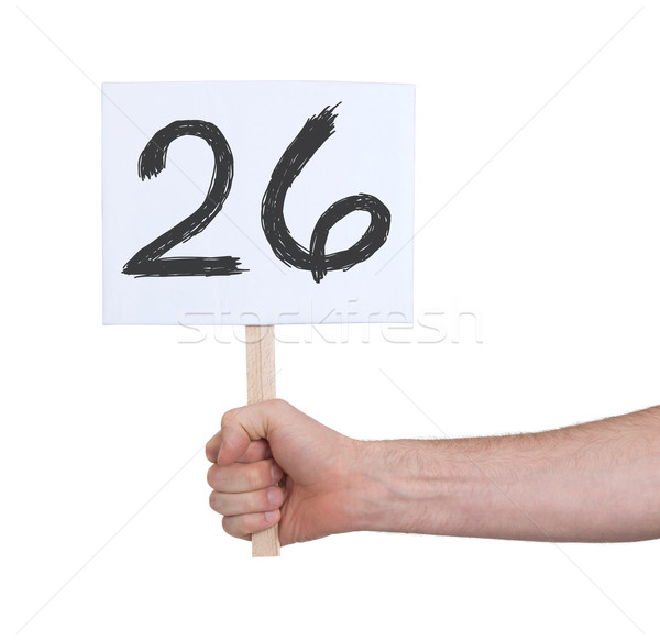 Sign with a number, 26 Stock photo © michaklootwijk