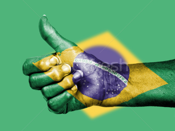 старуху знак флаг шаблон Бразилия Сток-фото © michaklootwijk