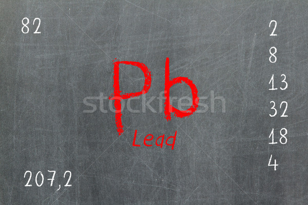 Izolált iskolatábla periódusos rendszer króm kémia terv Stock fotó © michaklootwijk