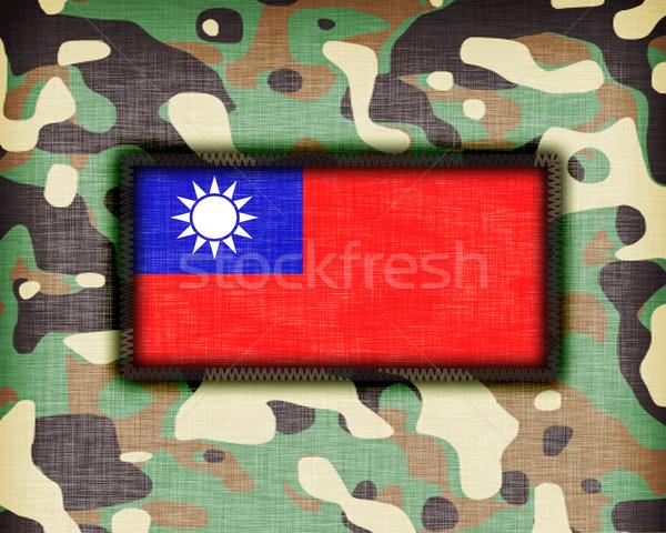álca egyenruha köztársaság Kína zászló textúra Stock fotó © michaklootwijk