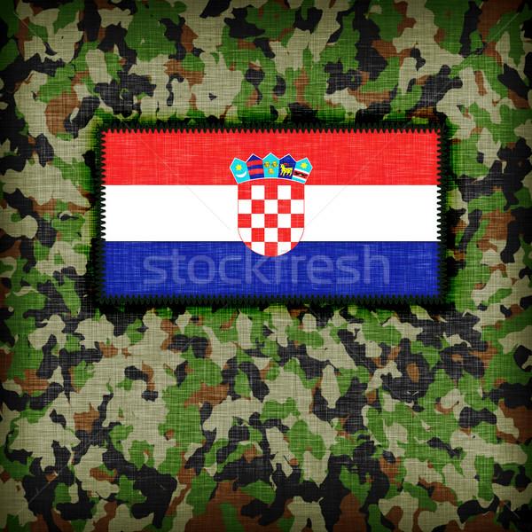 Foto stock: Uniforme · Croácia · bandeira · textura · abstrato