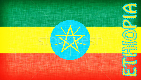 Flag of Ethiopia stitched with letters Stock photo © michaklootwijk