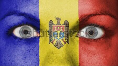 плачу женщину более горе флаг Молдова Сток-фото © michaklootwijk