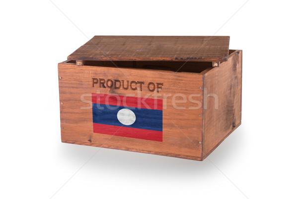 Stockfoto: Houten · geïsoleerd · witte · product · Laos