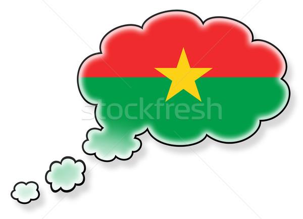 Bayrak bulut yalıtılmış beyaz Burkina sanat Stok fotoğraf © michaklootwijk