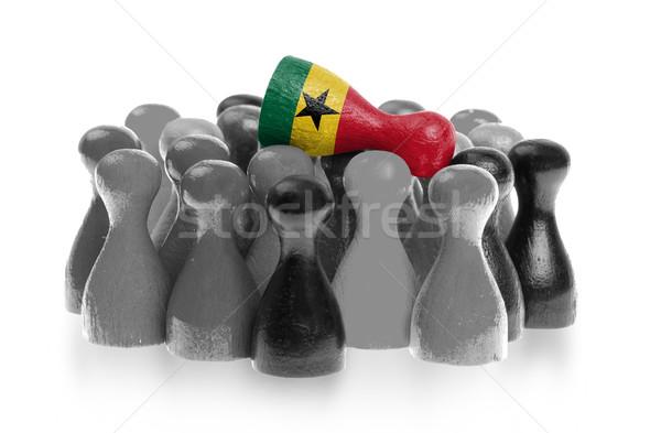 Une pion haut pavillon Ghana Photo stock © michaklootwijk