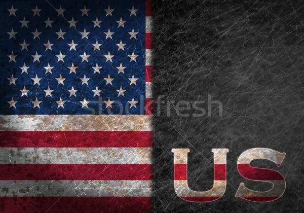 Edad Rusty metal signo bandera país Foto stock © michaklootwijk