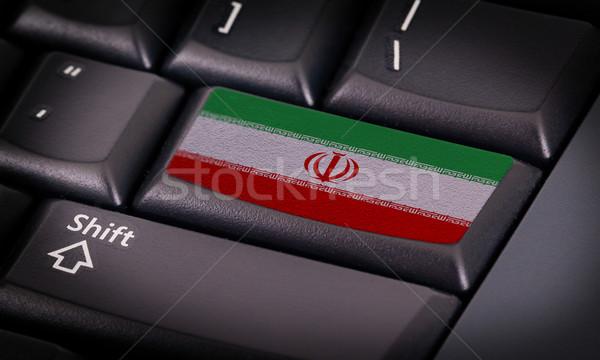 флаг клавиатура кнопки Иран интернет дизайна Сток-фото © michaklootwijk