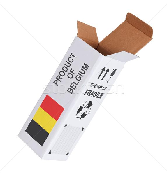 Exportar producto Bélgica papel cuadro Foto stock © michaklootwijk