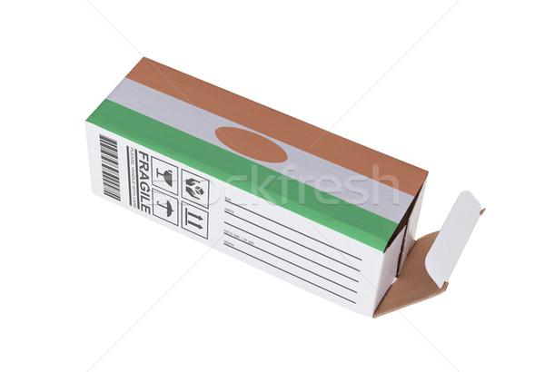 Exportar produto Níger papel caixa Foto stock © michaklootwijk