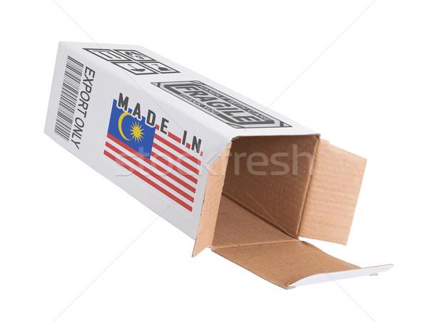 Exporter produit Malaisie papier boîte Photo stock © michaklootwijk