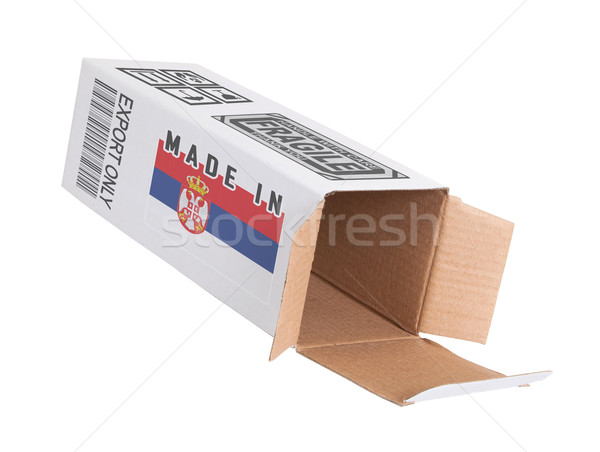 экспорт продукт Сербия бумаги окна Сток-фото © michaklootwijk