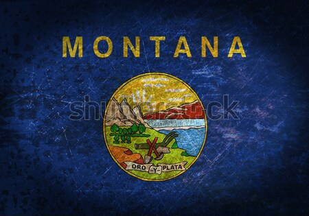 Bandiera brucia Montana guerra crisi fuoco Foto d'archivio © michaklootwijk