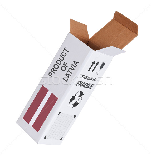 エクスポート 製品 ラトビア 紙 ボックス ストックフォト © michaklootwijk