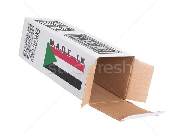 экспорт продукт Судан бумаги окна Сток-фото © michaklootwijk