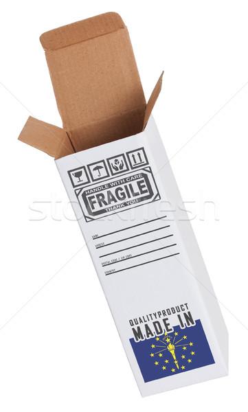 Export termék Indiana kinyitott papír doboz Stock fotó © michaklootwijk