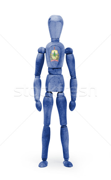 Wood figure mannequin with US state flag bodypaint - Vermont Stock photo © michaklootwijk