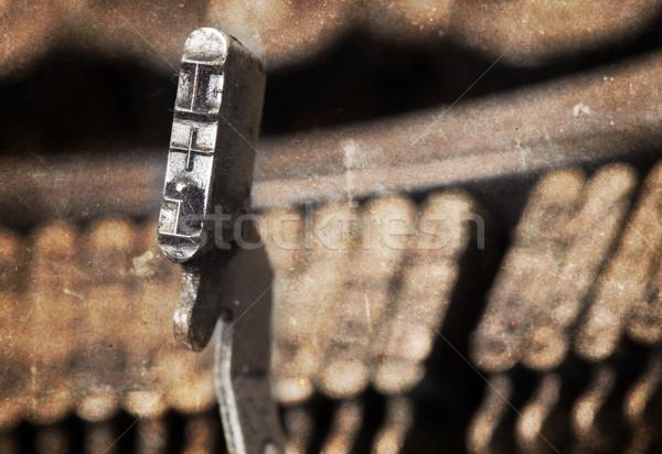 Martillo edad manual máquina de escribir caliente filtrar Foto stock © michaklootwijk