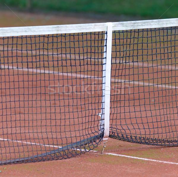 Com quadra de tênis esportes bola tribunal Foto stock © michaklootwijk