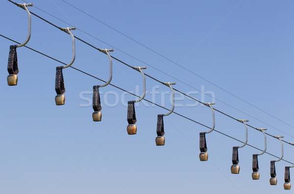 Alps cowbells on a skilift Stock photo © michaklootwijk