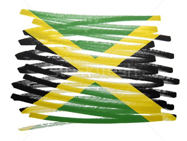 Pavillon illustration Jamaïque stylo affaires peinture Photo stock © michaklootwijk