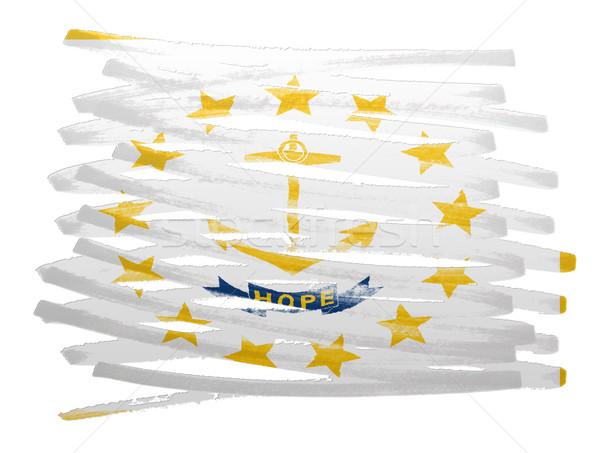 Bayrak örnek Rhode Island kalem iş boya Stok fotoğraf © michaklootwijk
