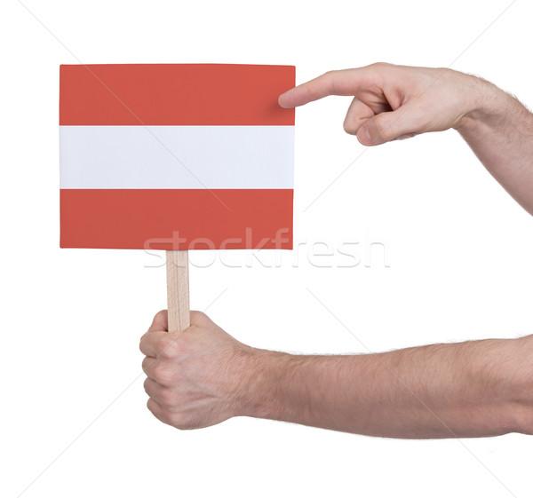 Mano pequeño tarjeta bandera Austria Foto stock © michaklootwijk