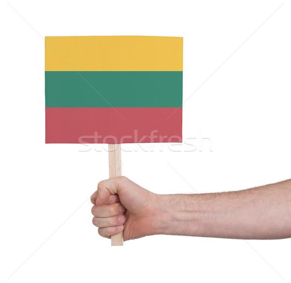 стороны небольшой карт флаг Литва Сток-фото © michaklootwijk