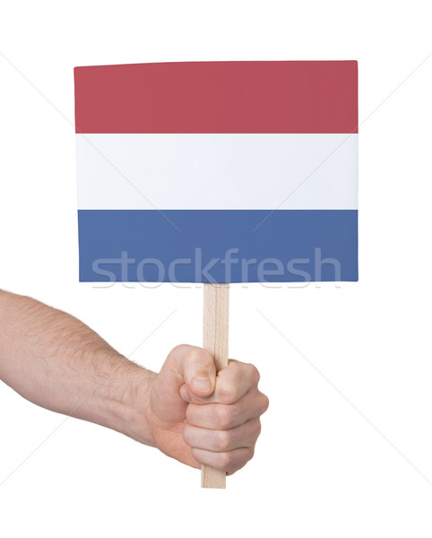 Hand holding small card - Flag of the Netherlands Stock photo © michaklootwijk